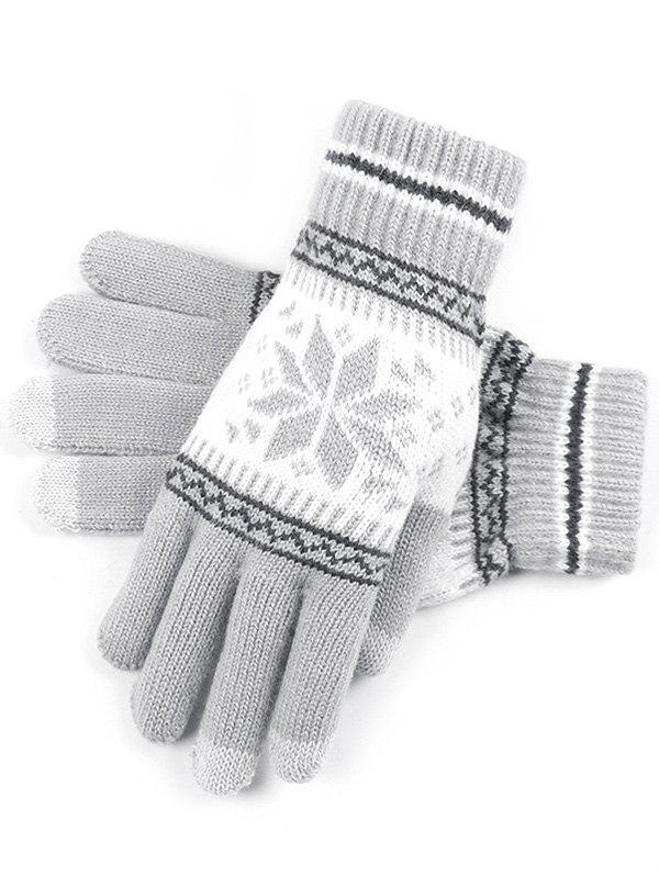 Discount Snowflake Jacquard Knit Gloves