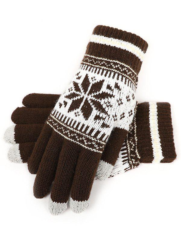 Shop Snowflake Jacquard Knit Gloves