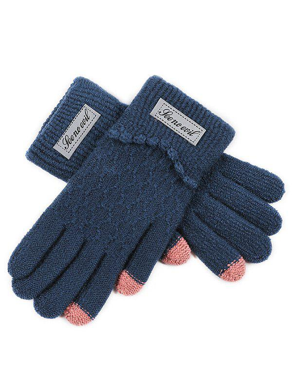 New Contrast Slip-on Knit Gloves