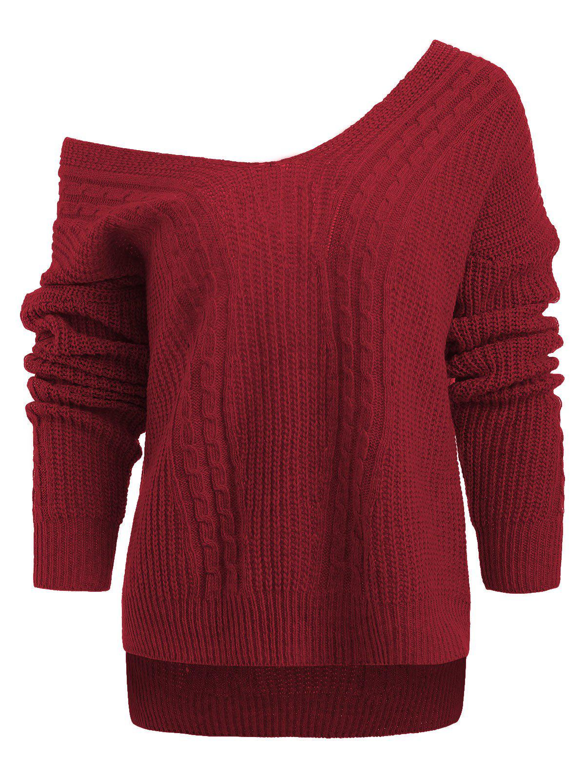 Trendy Drop Shoulder Hemp Flower Sweater