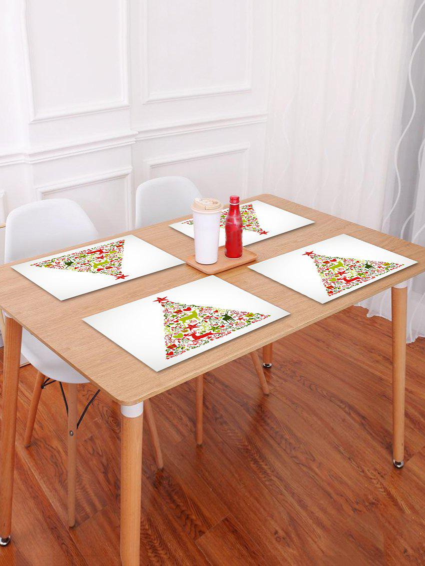 Outfit 1PC Christmas Tree Elk Printed Placemat