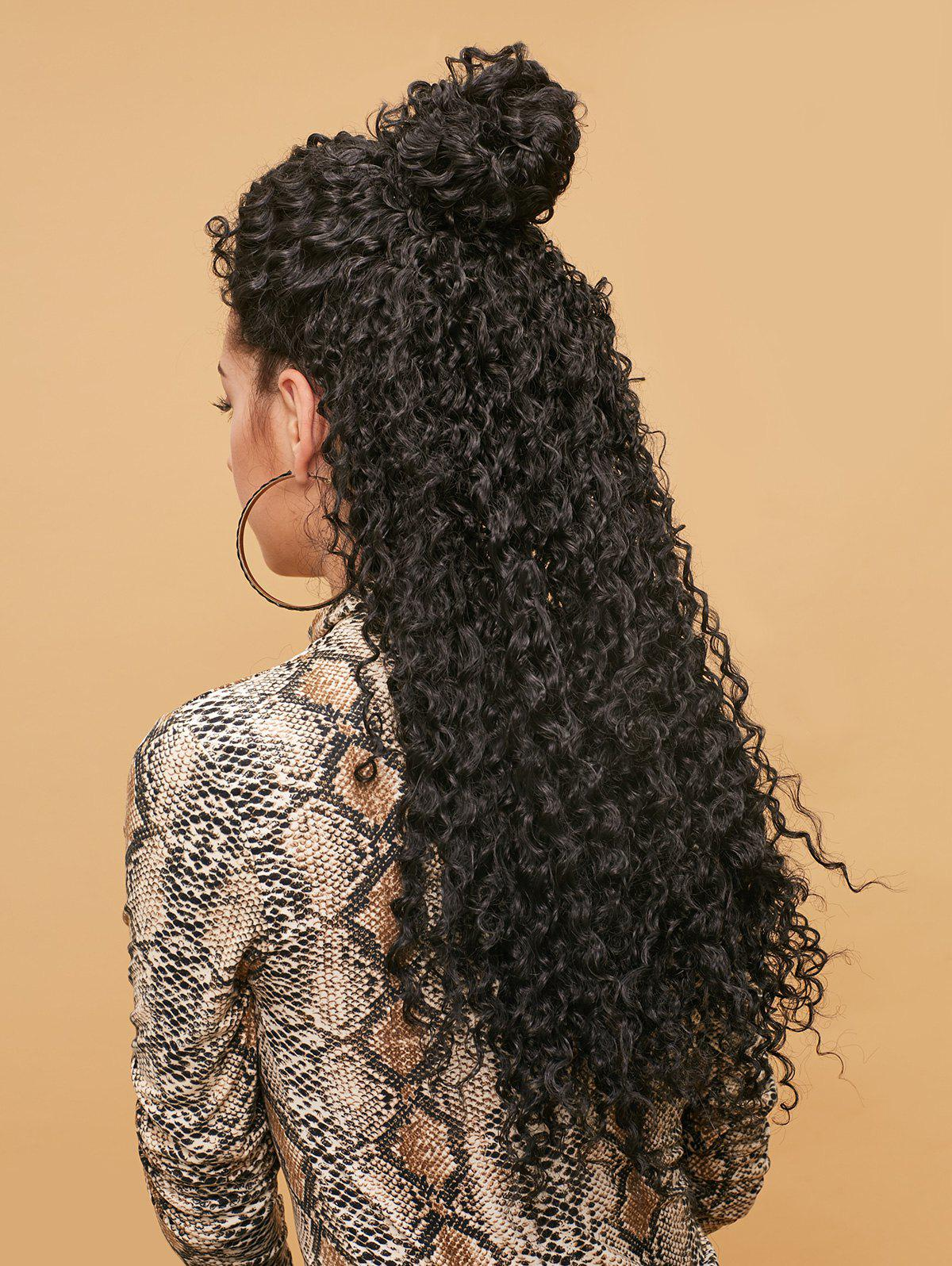 Chic Long Side Bang Fluffy Kinky Curly Synthetic Lace Front Wig