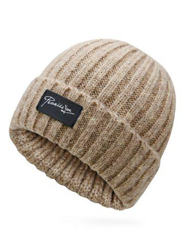 Winter Label Flanging Crochet Knitted Beanie