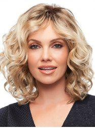 Synthetic Side Bang Colormix Short Wavy Wig -