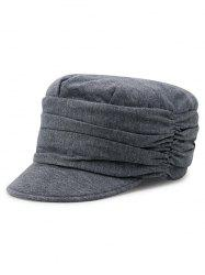 Stylish Solid Color Fold Pattern Hat -
