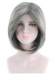 Oblique Bang Short Straight Bob Cosplay Synthetic Wig -
