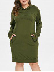 Long Sleeve Plus Size Hooded Dress -