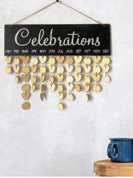Wooden Celebration Calendar Reminder Board -