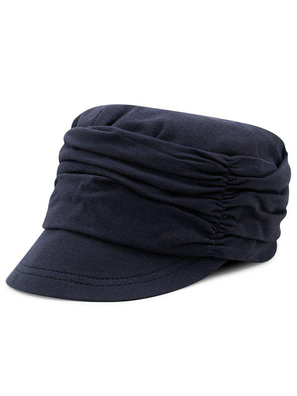 Sale Stylish Solid Color Fold Pattern Hat