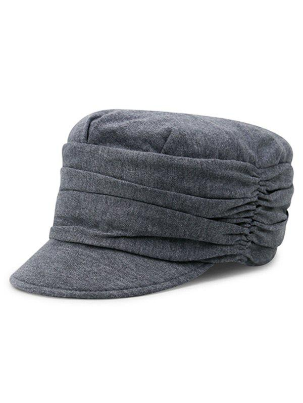 Unique Stylish Solid Color Fold Pattern Hat