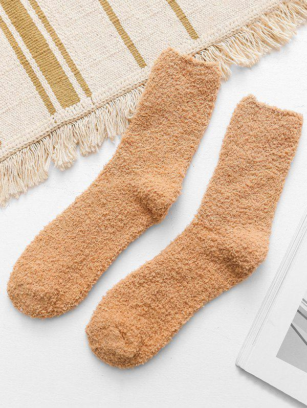 Store Casual Solid Color Fuzzy Floor Socks