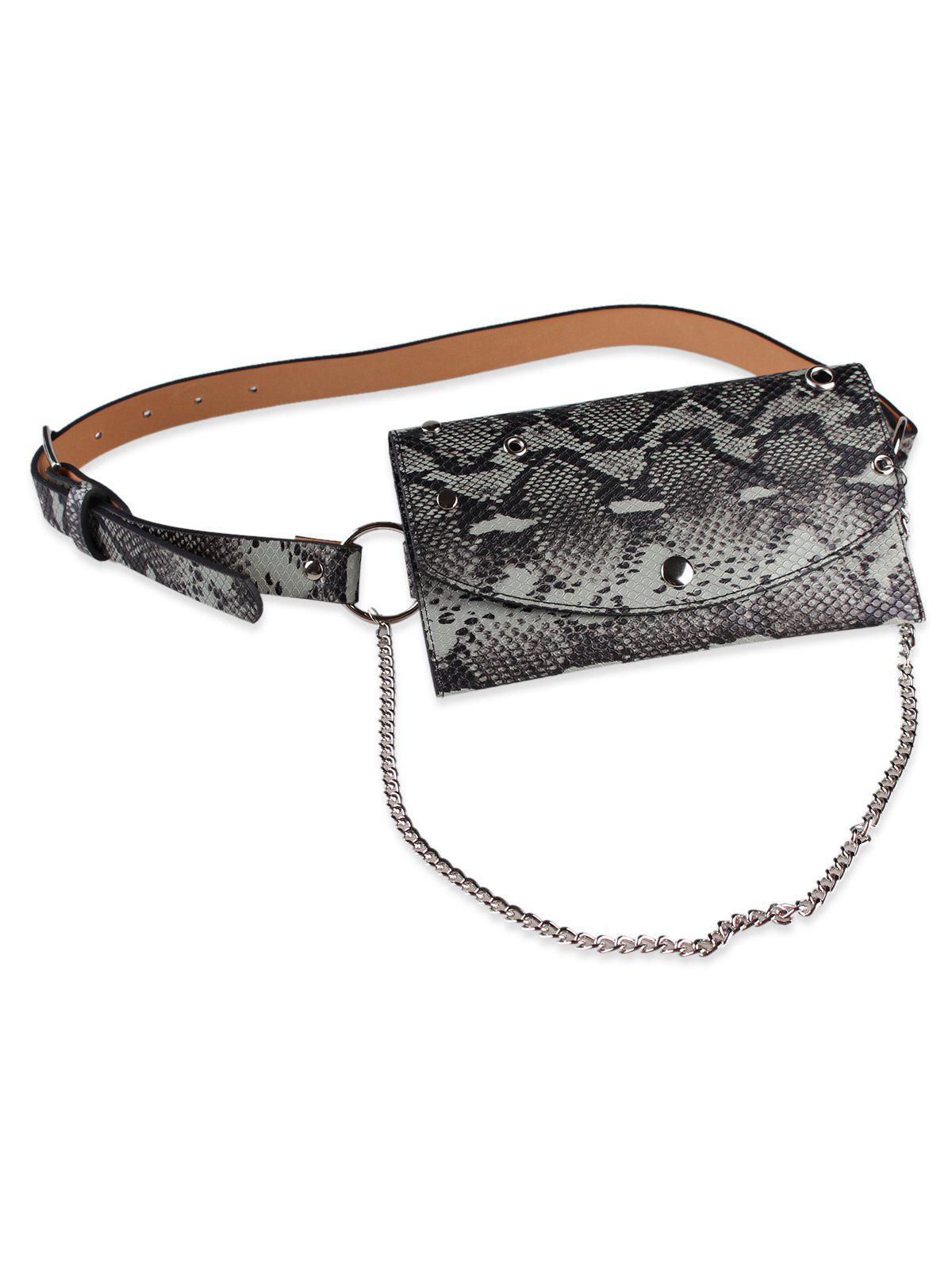 Affordable Vintage Pin Fanny Pack Embellished Chain Belt Bag