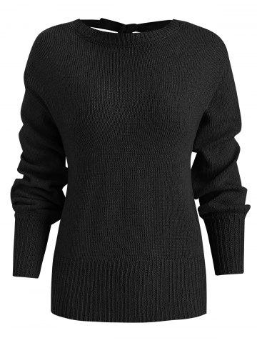 Tie Knot Backless Sweater