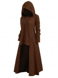 Drawstring Plus Size Hooded Ribbed Sweater -