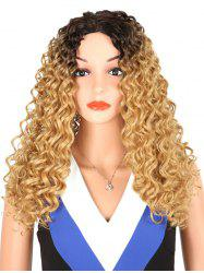 Synthetic Long Middle Part Kinky Curly Wig -