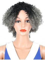 Medium Side Fringe Colormix Curly Synthetic Wig -