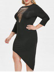 Plus Size Ladder Cut Out Bodycon Dress -