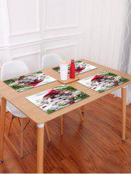 Christmas Snowman Ball Pattern Placemat -