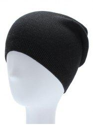 Ribbed Knitted Beanie Hat -