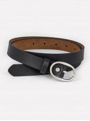Faux Leather Simple Style Waist Belt -