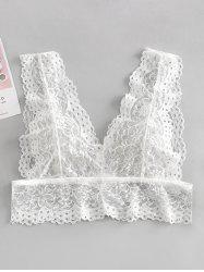 See Through Cut Out Lace Bralette -