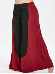 Plus Size Two Tone Palazzo Pants -