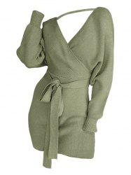 Cut Out Plus Size Plunging Neck Tunic Sweater -