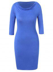 Plus Size Sequined Lace Insert Bodycon Dress -
