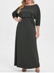 Off The Shoulder Plus Size Floor Length Dress -