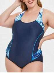 Racerback Cut Out Plus Size Swimwear -