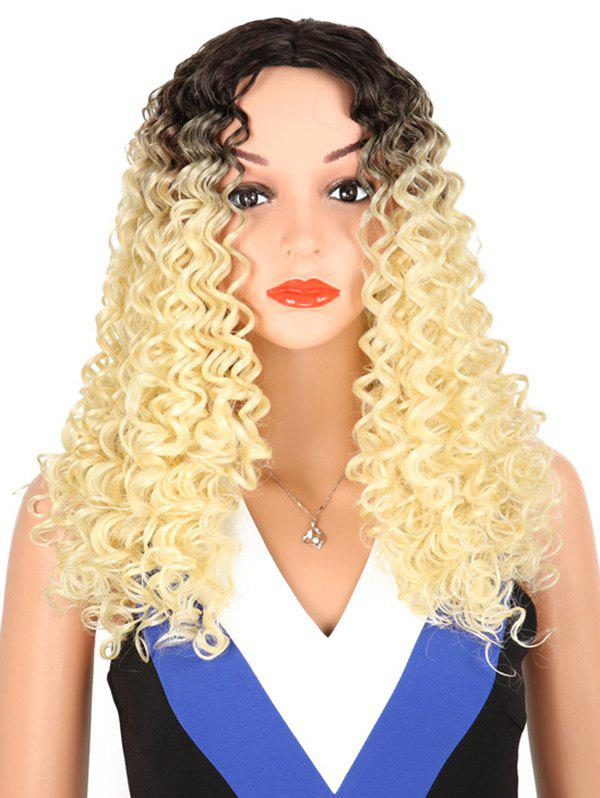 Sale Synthetic Long Middle Part Kinky Curly Wig
