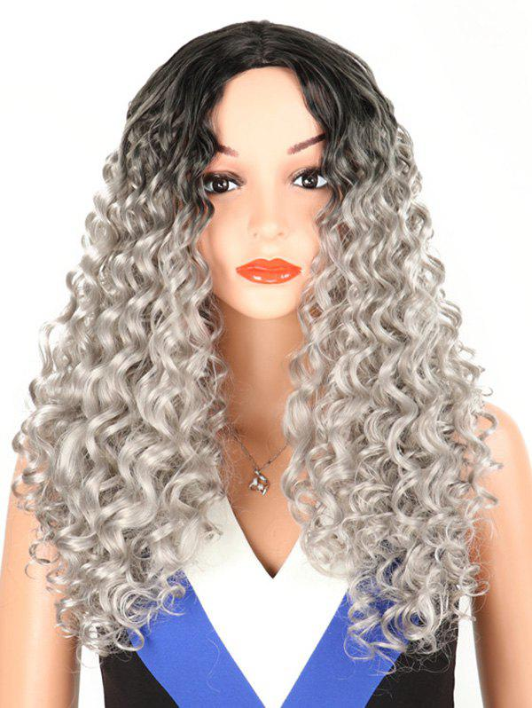 Hot Synthetic Long Middle Part Kinky Curly Wig
