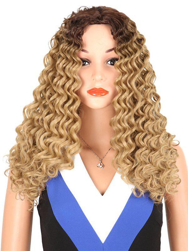 Latest Synthetic Long Middle Part Kinky Curly Wig
