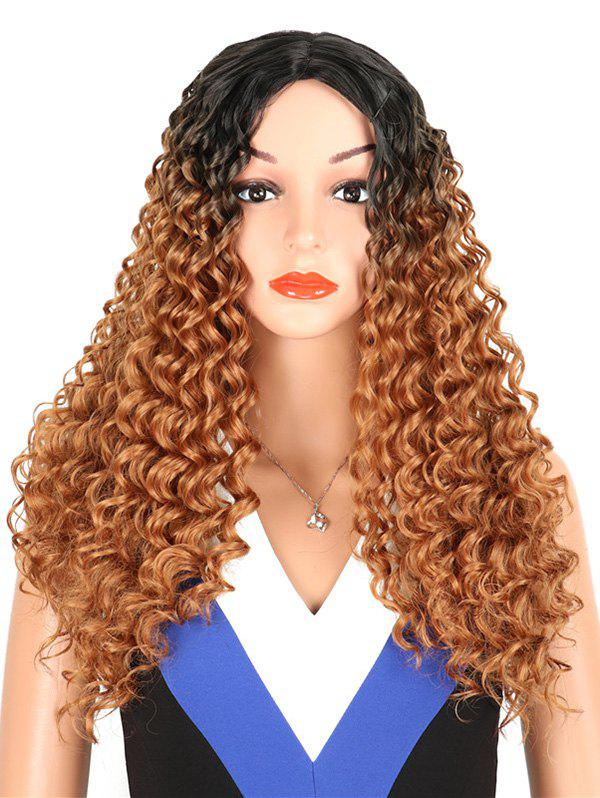 Best Synthetic Long Middle Part Kinky Curly Wig