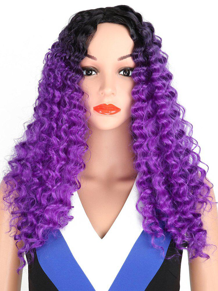 New Synthetic Long Middle Part Kinky Curly Wig