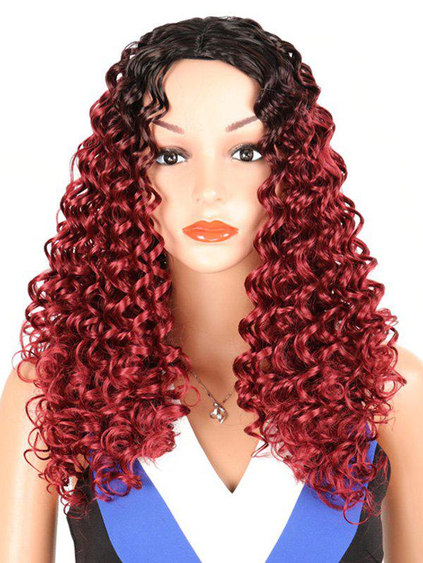 Chic Synthetic Long Middle Part Kinky Curly Wig