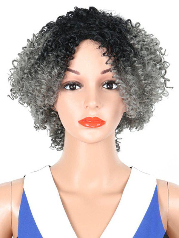 Buy Medium Side Fringe Colormix Curly Synthetic Wig