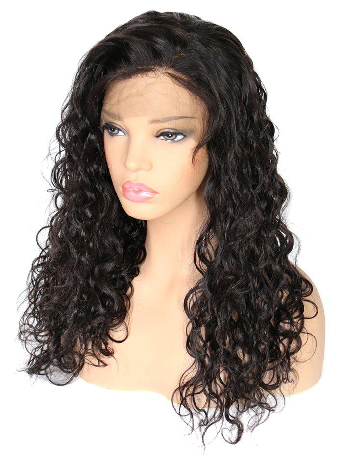 Fashion Real Human Hair Curly Free Part Lace Front Wig
