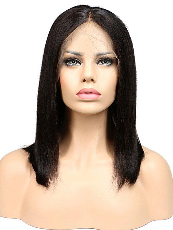 Shops Human Hair Middle Part Straight Bob Lace Front Wig