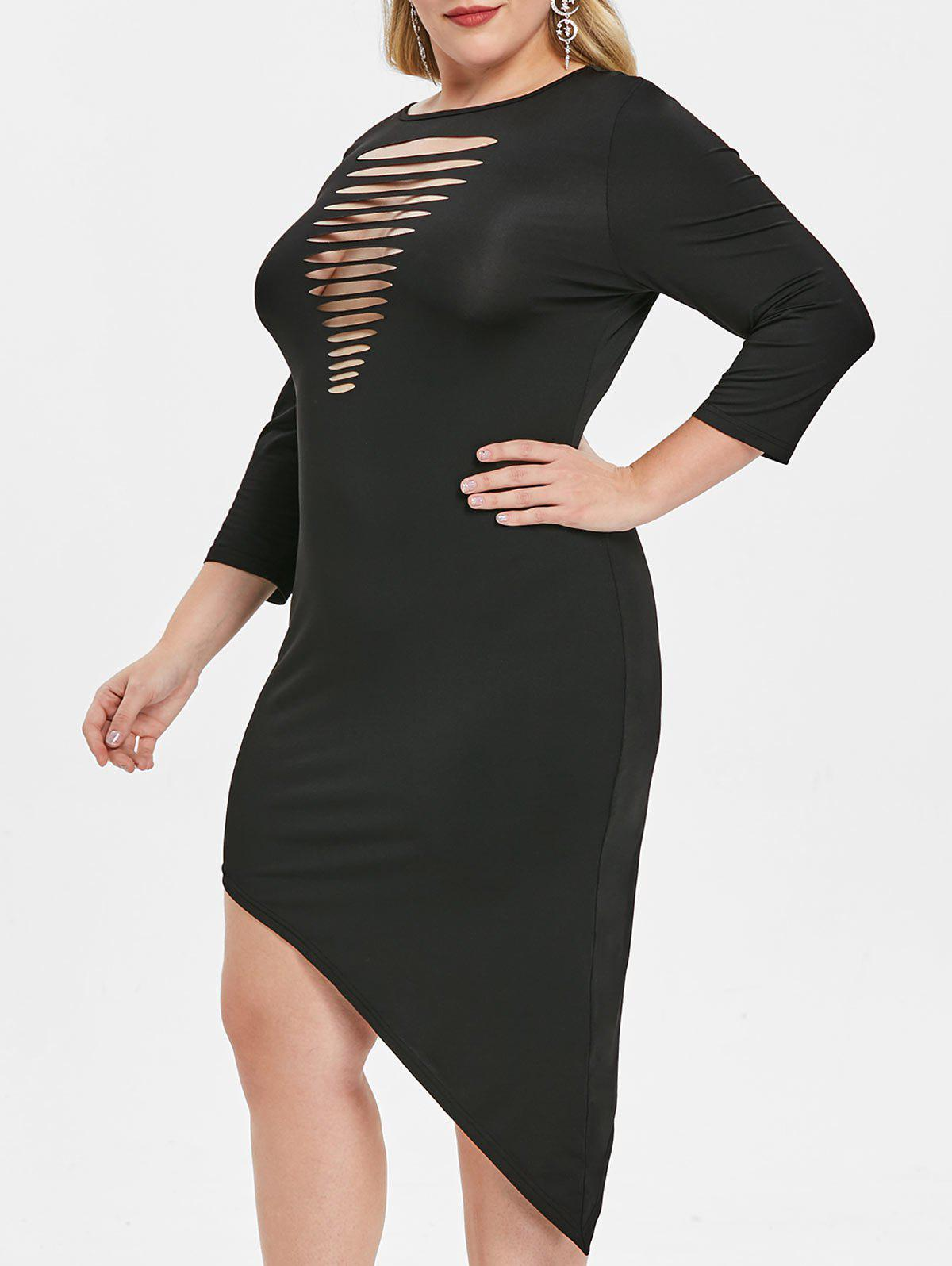 Shops Plus Size Ladder Cut Out Bodycon Dress
