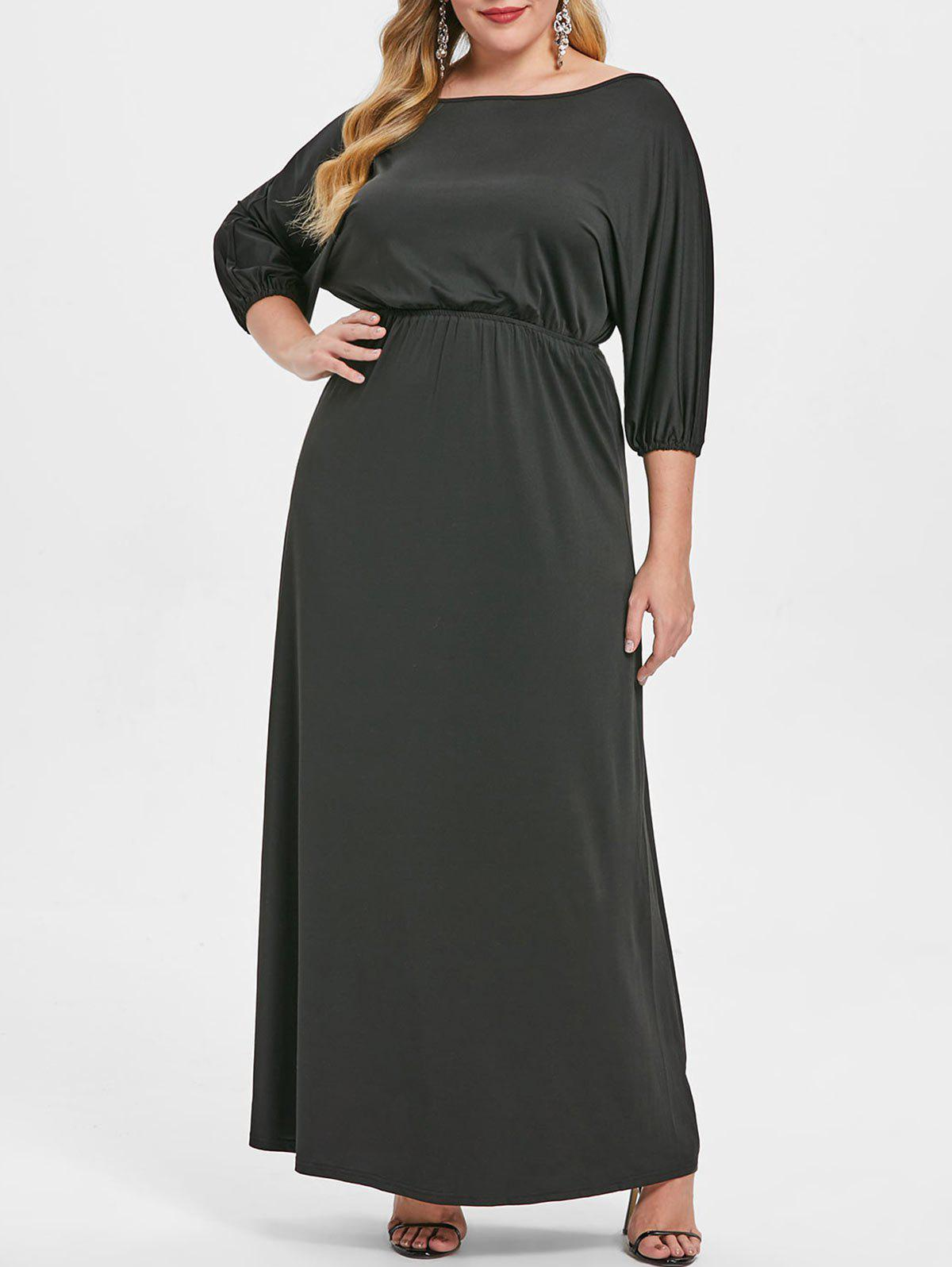 Buy Off The Shoulder Plus Size Floor Length Dress