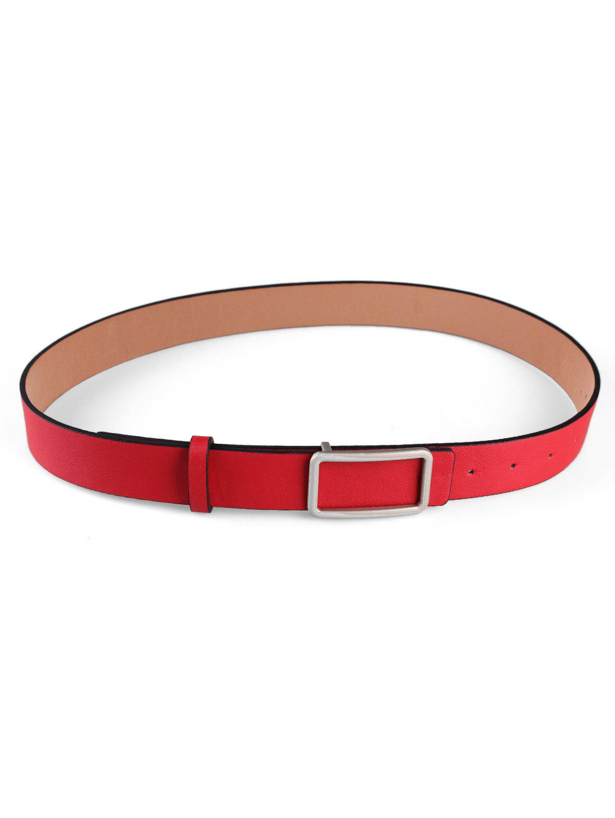 Discount Square Buckle Faux Leather Belt