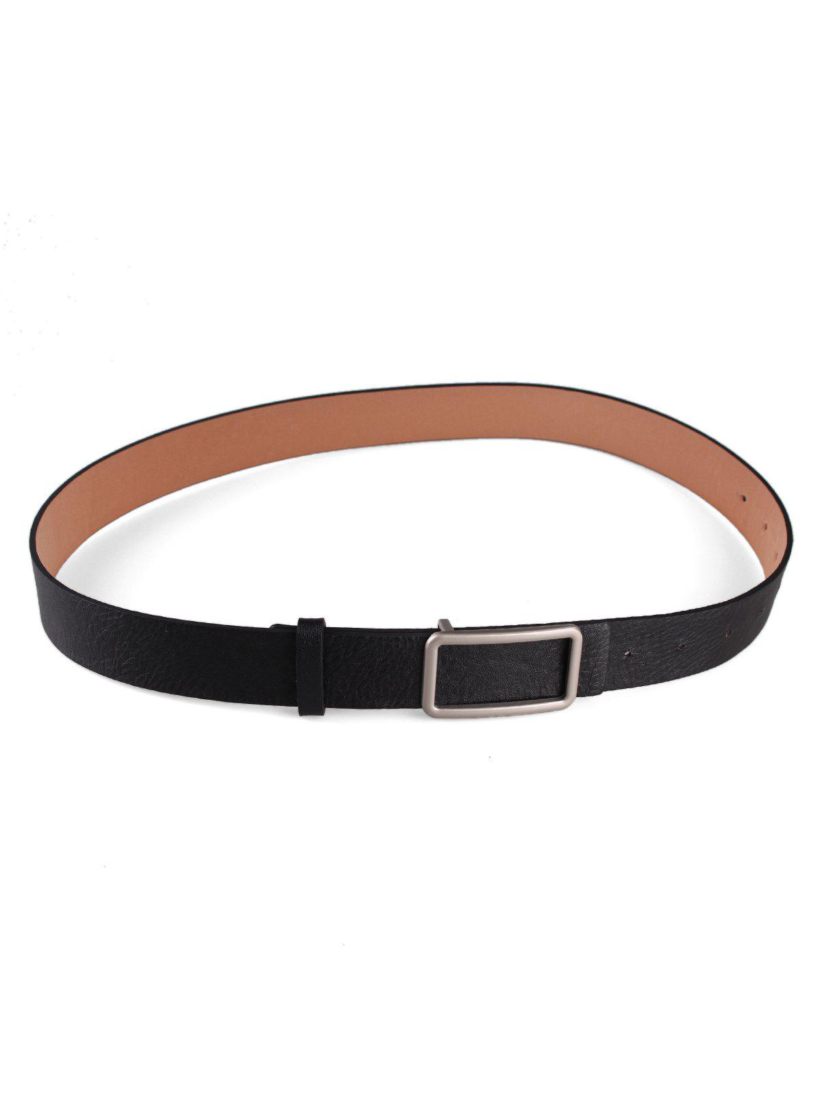 Outfits Square Buckle Faux Leather Belt