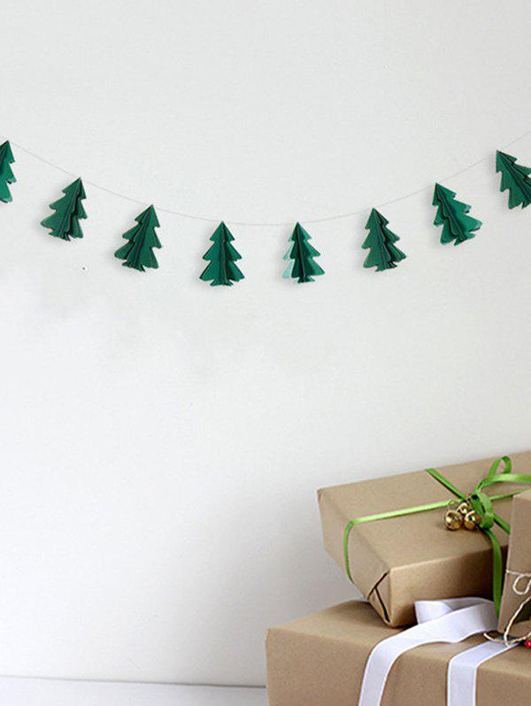 Fashion 3D Christmas Tree Paper Garland Party Decoration