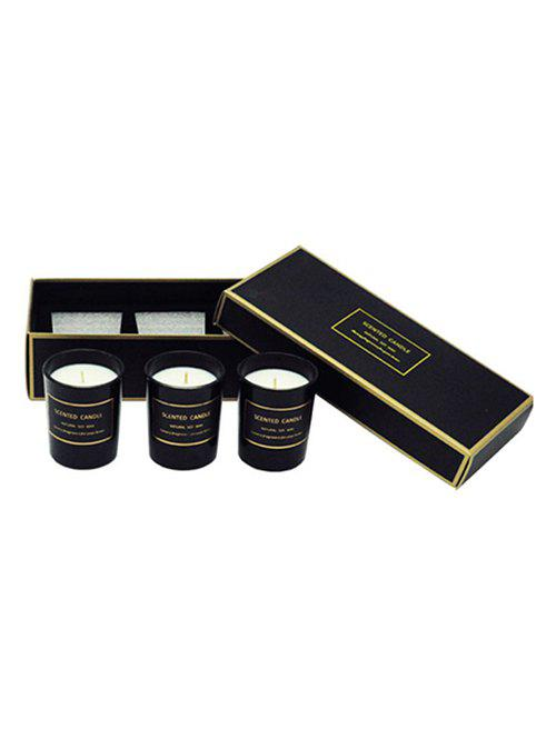 Trendy 3PCS Scented Soy Wax Candle with Cup Set