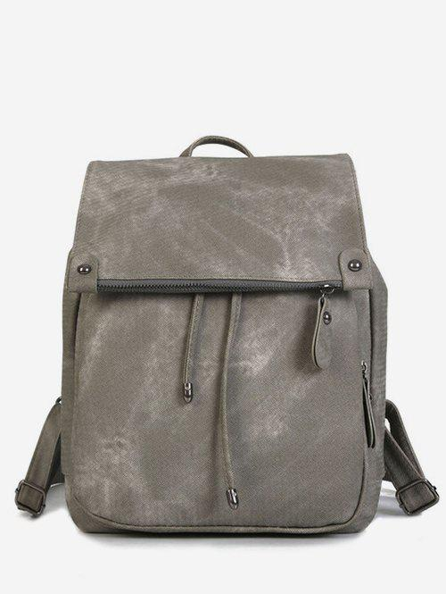 Latest Top Handle Drawstring PU Backpack