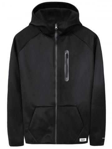 Solid Zipper Fleece Warm Jacket