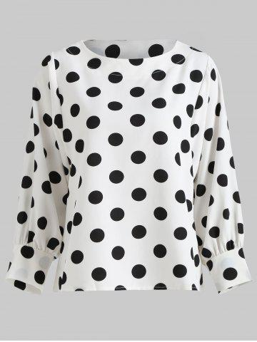 Puff Sleeve Polka Dot Top