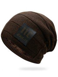 Letter Label Thick Slouchy Beanie -
