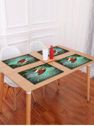 Christmas Sock Balls Pattern Placemat -